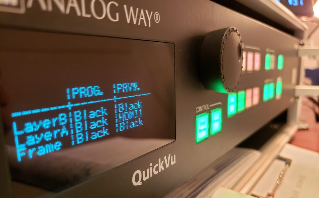 ANALOG WAY/Quick Vu本体